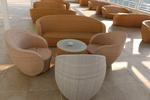 Сепарета за кафене,произведен от ратан за плаж и басейн